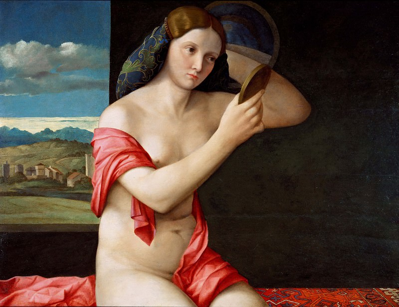 Lady with a Mirror. Giovanni Bellini