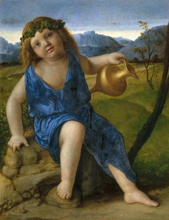 The Infant Bacchus. Giovanni Bellini