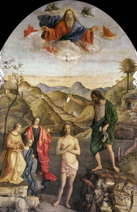 Baptism of Christ. Giovanni Bellini