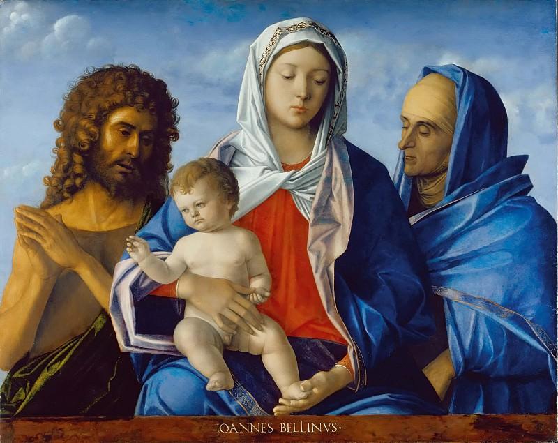 Madonna and Child, John the Baptist and St. Elizabeth. Giovanni Bellini