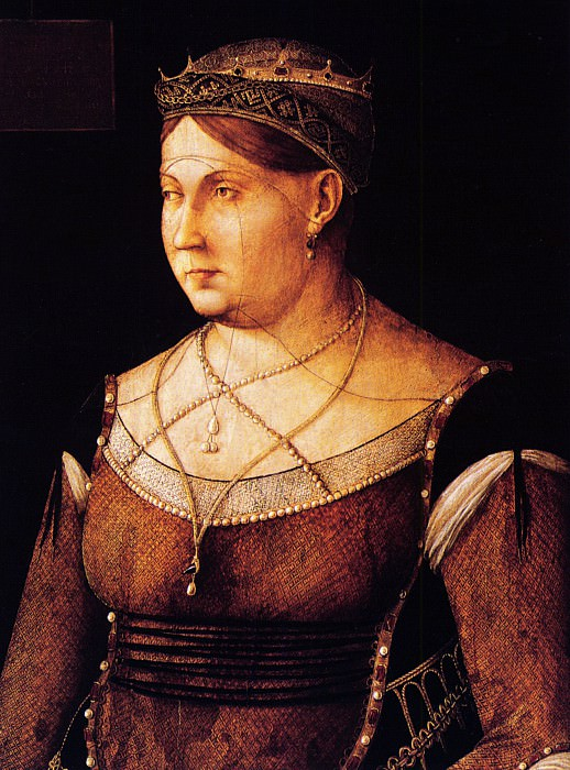 Caterina Cornaro Queen of Cyprus. Gentile Bellini