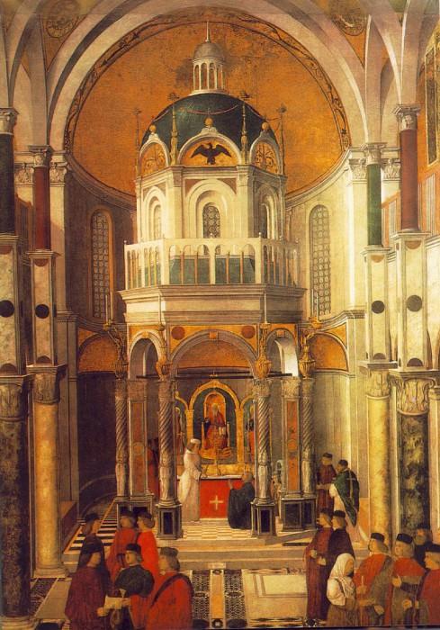 The healing of Pietro dei Ludovici, ca 1501,. Gentile Bellini