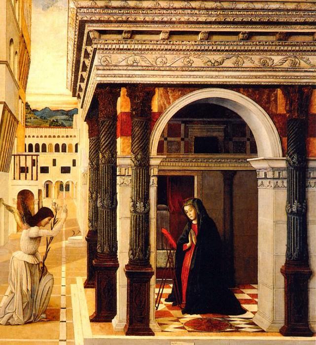 The Annunciation 1465. Gentile Bellini