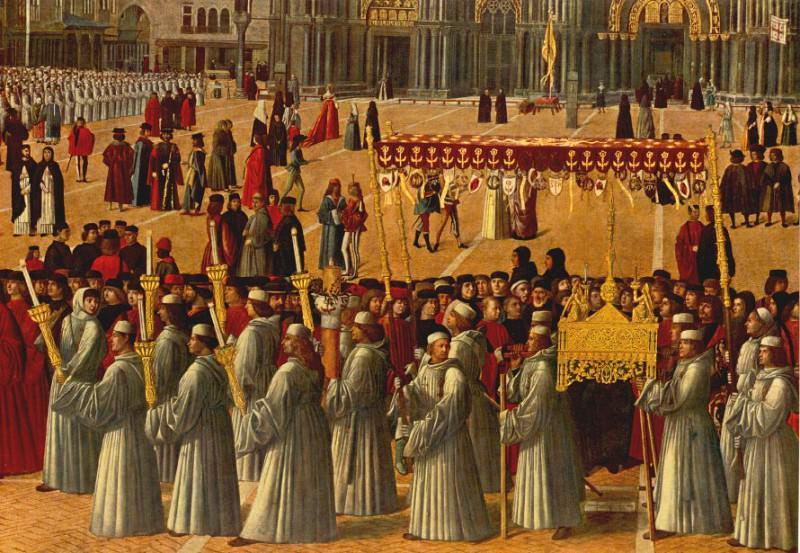 Procession in plaza det. Gentile Bellini