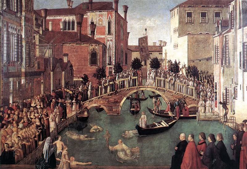 Miracle of the Cross. Gentile Bellini