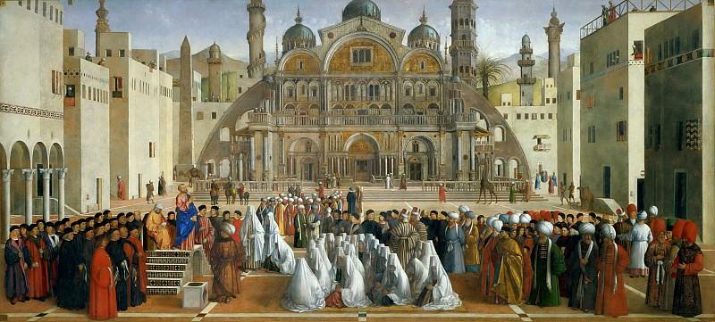 Saint Mark Preaching in Alexandria. Gentile Bellini