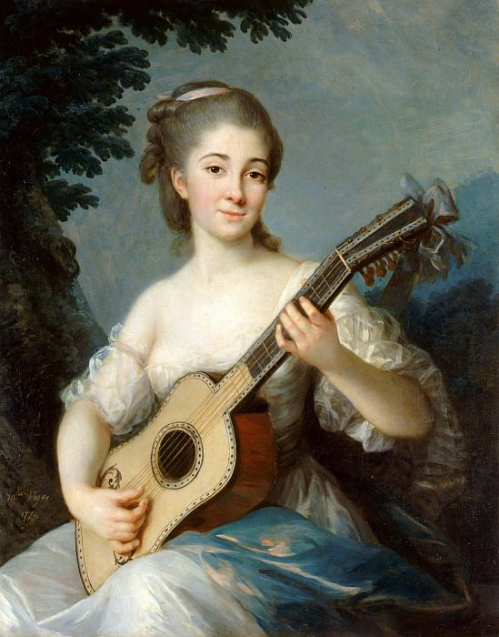 Portrait de Marie de Robien, Vicomtesse de Mirabeau. Élisabeth Louise Vigée Le Brun