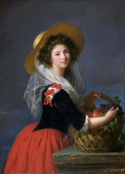 Portrait of Marie Gabrielle de Gramont, Duchesse de Caderousse. Élisabeth Louise Vigée Le Brun