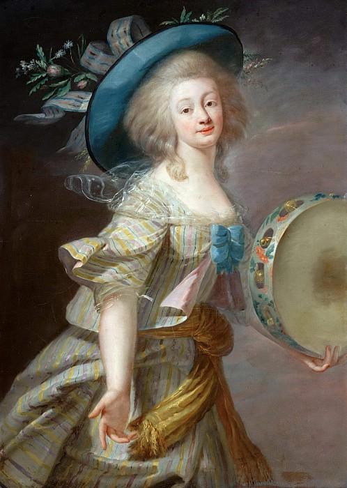 Portrait une danseuse au tambourin. Élisabeth Louise Vigée Le Brun