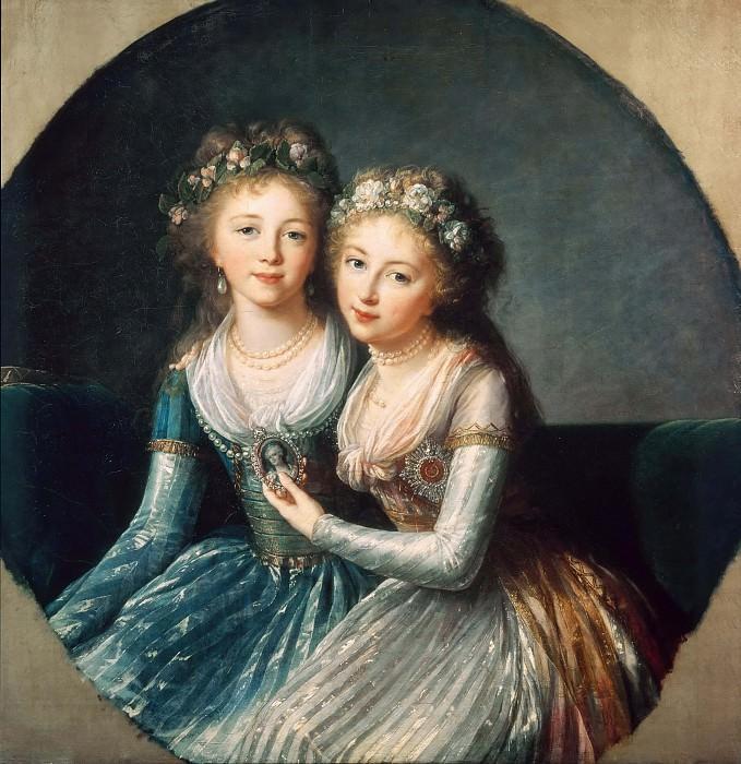 Portrait of Emperor Pavel I's Daughters. Élisabeth Louise Vigée Le Brun