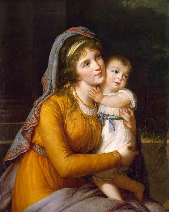 Portrait of Countess Anna Stroganova with Her Son. Élisabeth Louise Vigée Le Brun