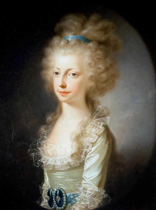 Portrait of Archduchess Maria Clementina of Austria. Élisabeth Louise Vigée Le Brun