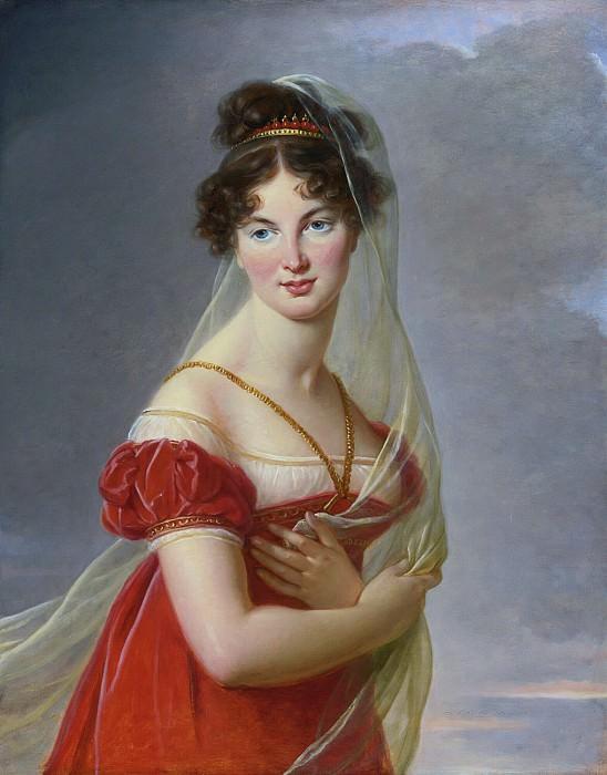 PORTRAIT OF AGLAÉ ANGÉLIQUE GABRIELLE DE GRAMONT (1787-1842), WIFE OF GENERAL ALEKSANDR DAVYDOV. Élisabeth Louise Vigée Le Brun