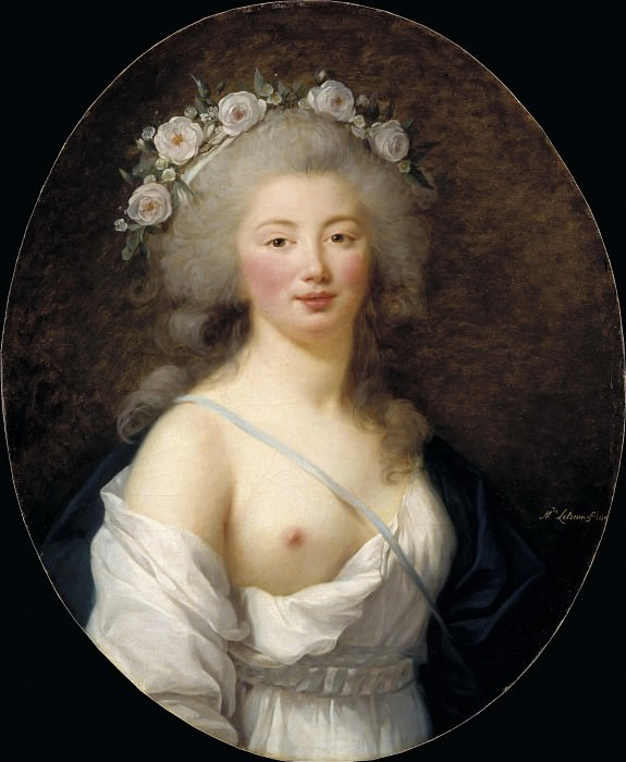Portrait of a Young Lady as Flora. Élisabeth Louise Vigée Le Brun