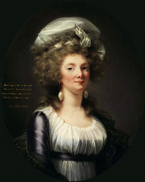 PORTRAIT DER MARIE EUGÉNIE ROUILLÉ-DUCOUDREUX. Élisabeth Louise Vigée Le Brun