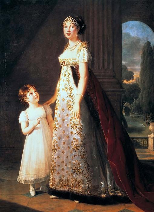 Portrait of Caroline Bonaparte. Élisabeth Louise Vigée Le Brun