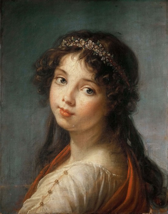 Portrait of the Artists Daughter. Élisabeth Louise Vigée Le Brun
