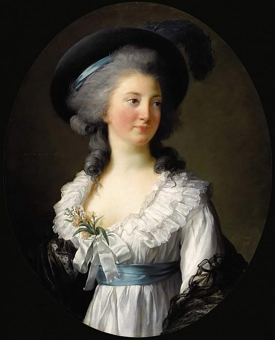 Portrait of Madame de Moreton, La Comtesse Moreton de Chabrillan. Élisabeth Louise Vigée Le Brun