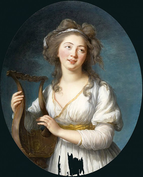 Portrait of a Young Woman Playing a Lyre. Élisabeth Louise Vigée Le Brun