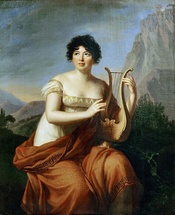 Madame de Stael, as Corinne. Élisabeth Louise Vigée Le Brun