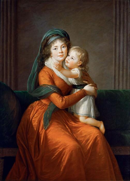 Portrait of princess Alexandra Golitsyna and her son Piotr. Élisabeth Louise Vigée Le Brun