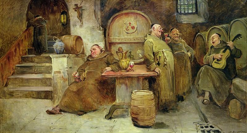 Вино и песня (1895). Нильс Бергслин
