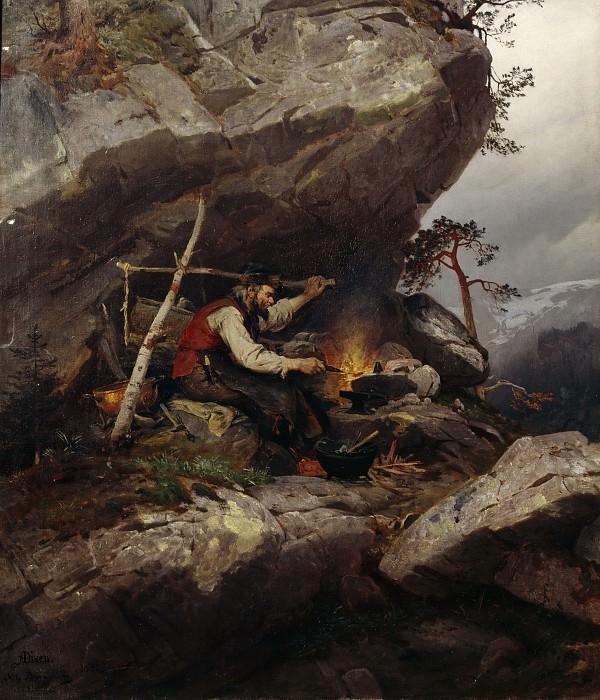 Странствующий кузнец, 1880. Нильс Бергслин