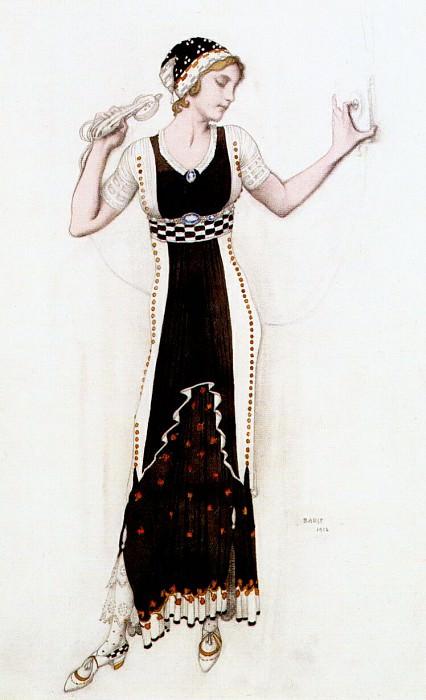 fantasy on modern costume (atalanta) 1912. Leon Bakst