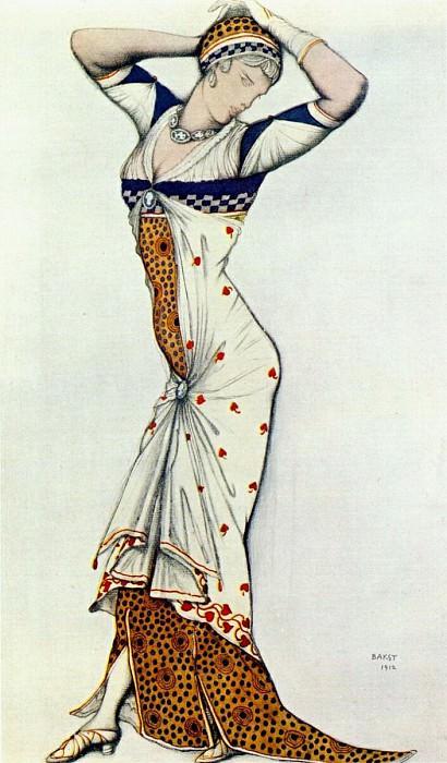 design for a ladys dress 1912. Leon Bakst