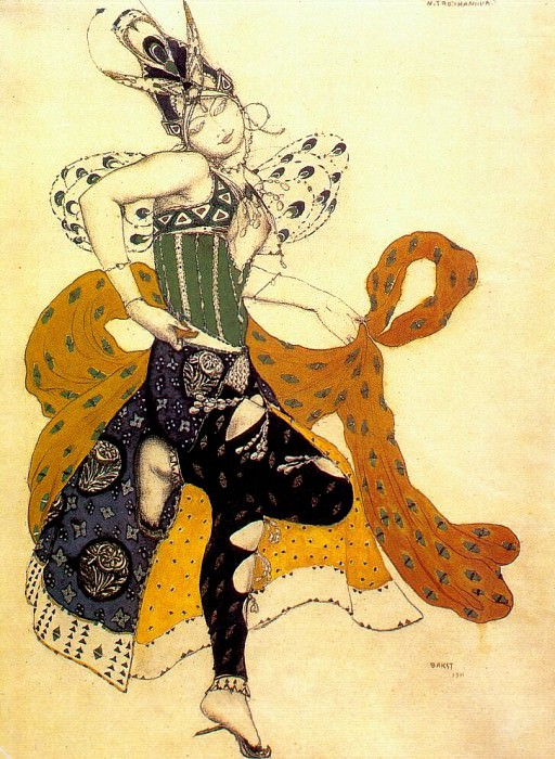 la-peri natasha-trouhanova-as-the-peri 1911. Leon Bakst