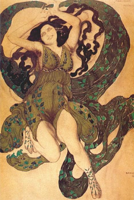 narcisse a-nymph 1911. Leon Bakst