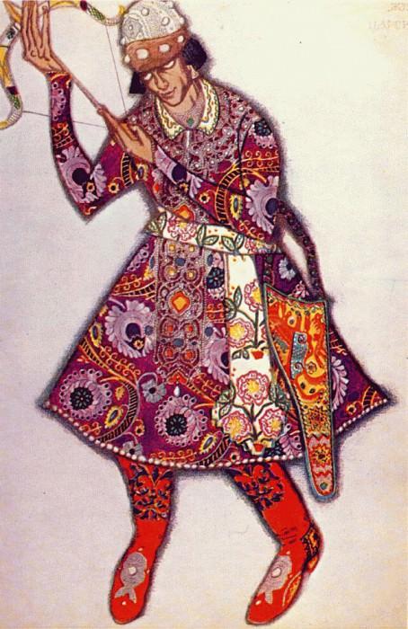 loiseau de feu michel-fokine-as-tsarevitch 1910. Leon Bakst