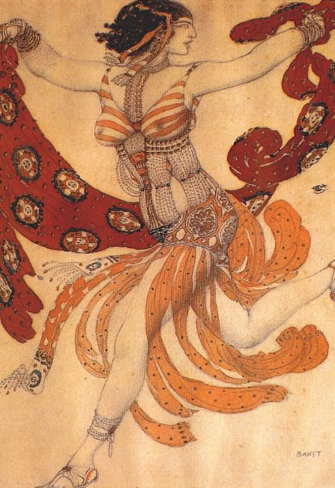 cleopatre a-dancer 1909. Leon Bakst