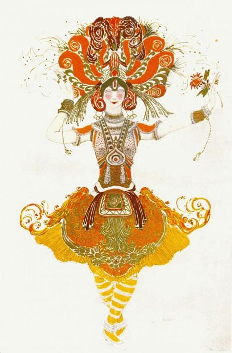loiseau de feu costume-pour-tamara-karsavina 1910. Leon Bakst