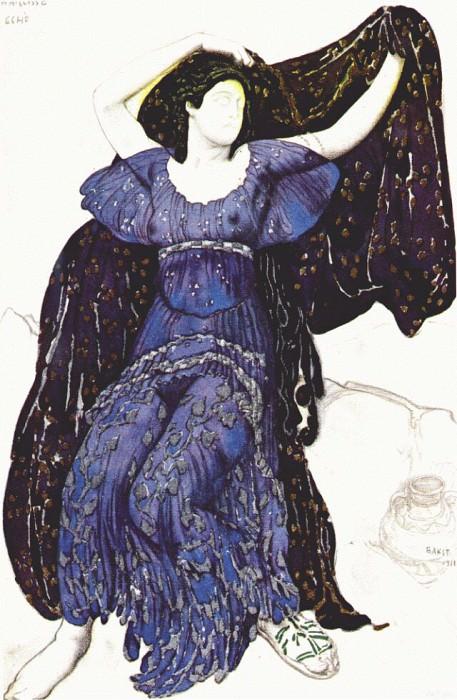 the nymph echo 1911. Leon Bakst