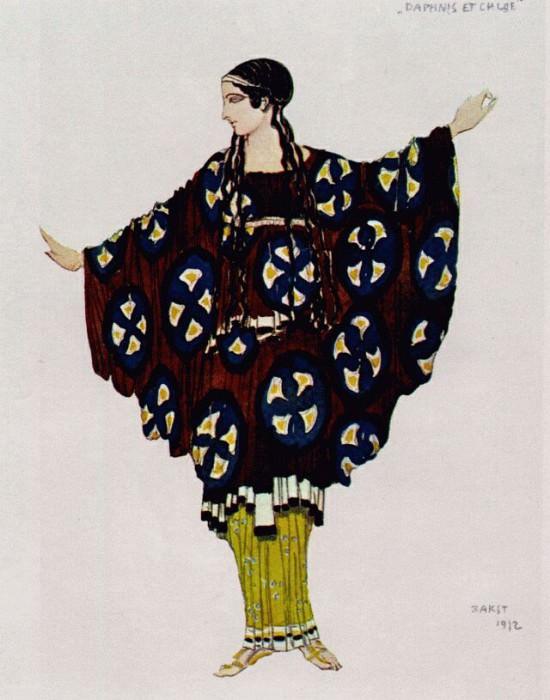bakst daphnis et chloe costume 1912. Leon Bakst