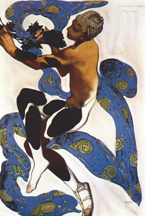 lapres-midi dun faune nijinsky-as-the-faun 1912. Leon Bakst