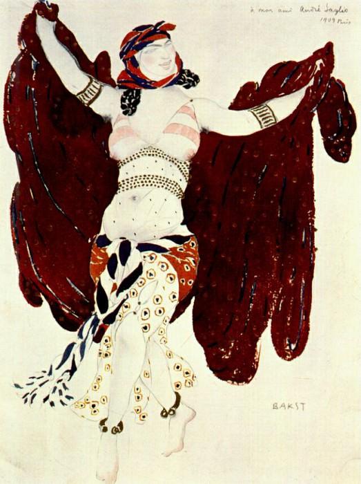 cleopatre syrian-dance 1909. Leon Bakst