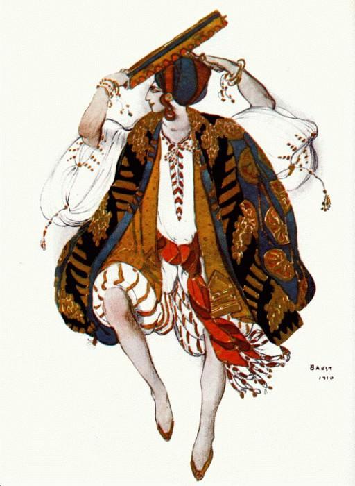 bakst cleopatre danse-juive 1910. Leon Bakst