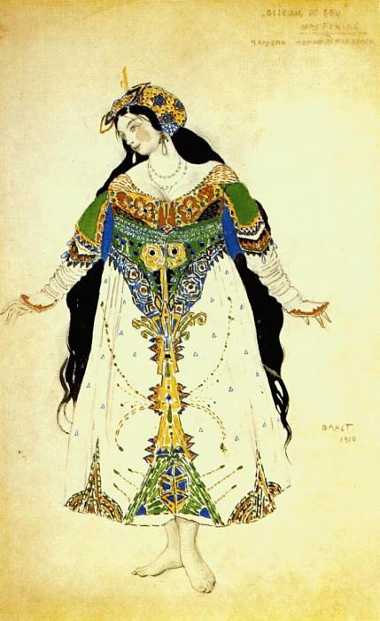 loiseau-de-feu the-tsarevna 1910. Leon Bakst