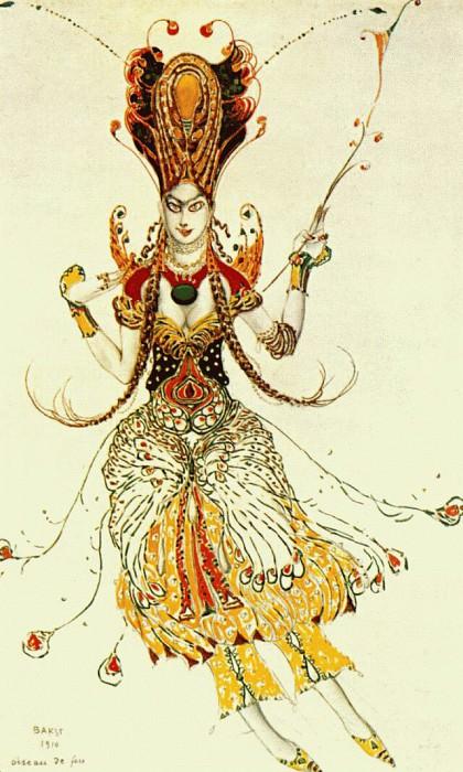 loiseau-de-feu the-firebird 1910. Leon Bakst