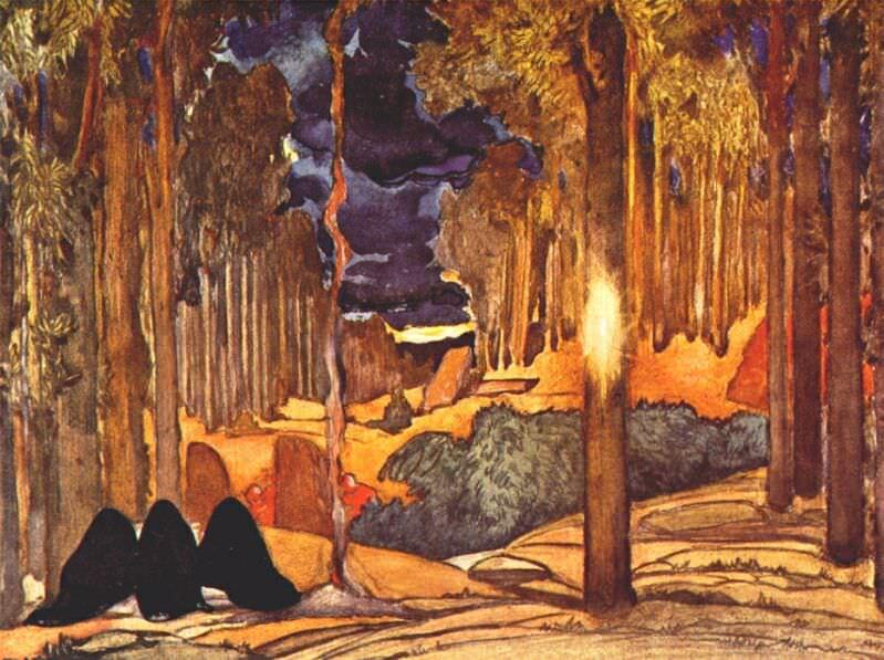 le-martyre-de-saint-sebastien act-iv-set-design 1911. Leon Bakst