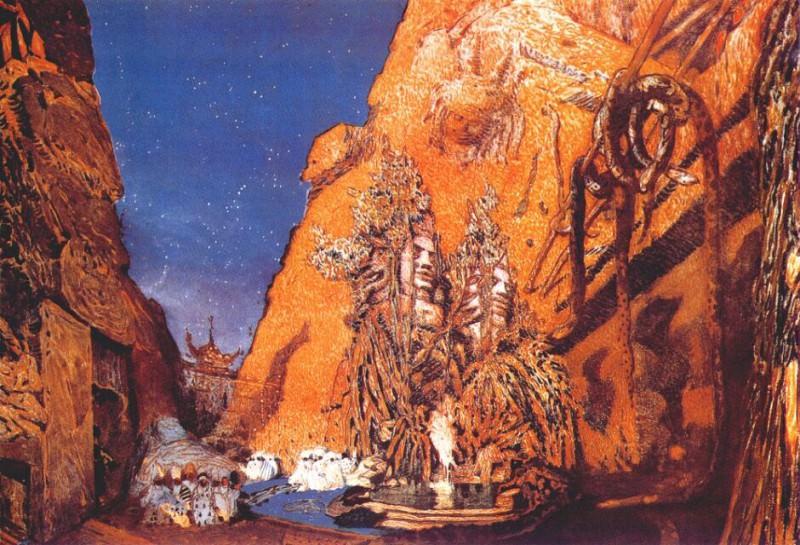 le-dieu-bleu setting 1912. Leon Bakst