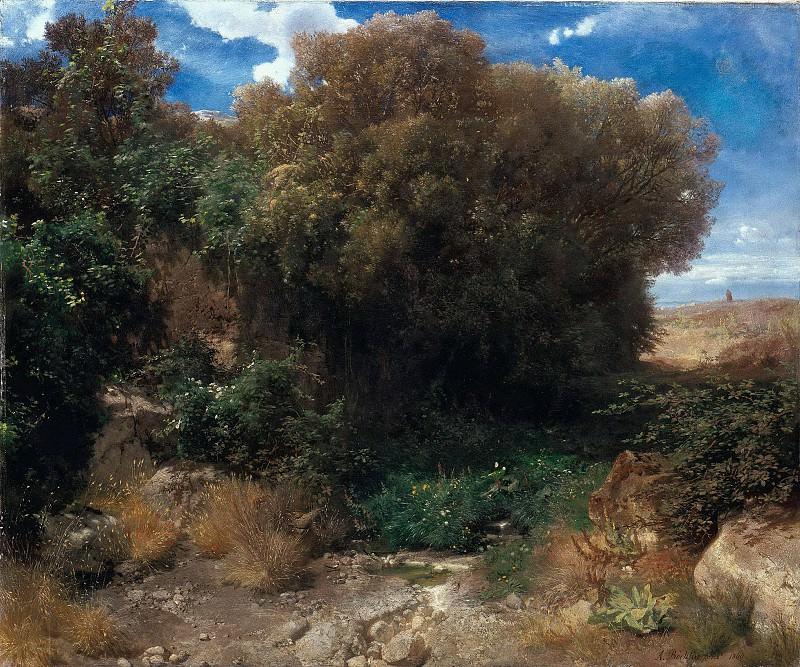 Campagna landscape. Arnold Böcklin