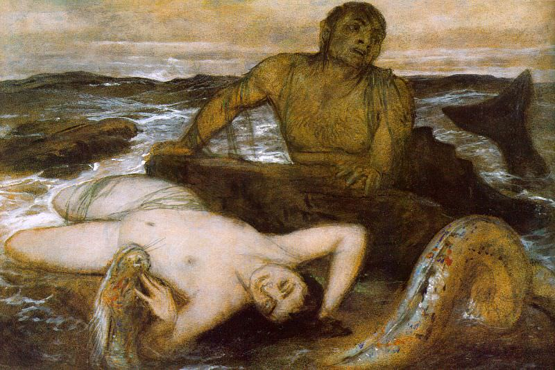 1877 Triton and Nereid. Arnold Böcklin