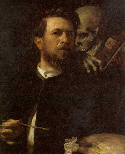 Self-Portrait with Death Playing a Fiddle 2. Arnold Böcklin