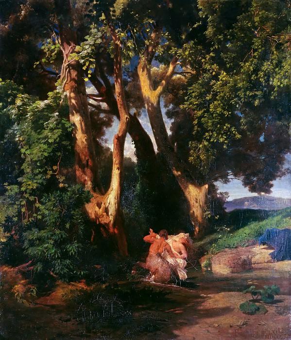Centaur and Nymph. Arnold Böcklin