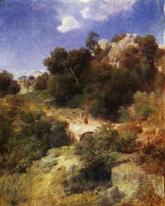 Italian landscape. Arnold Böcklin