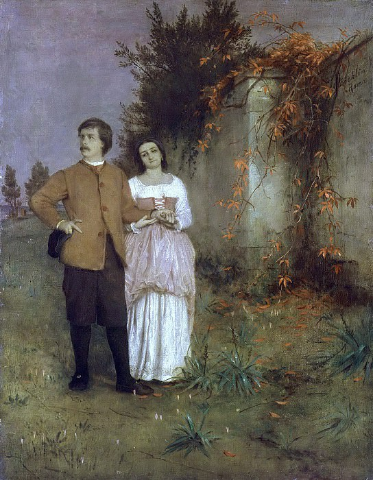 The artist and his wife. Arnold Böcklin
