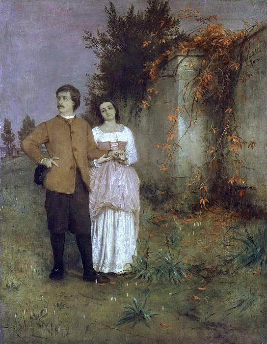 Автопортрет с женой. Арнольд Бёклин